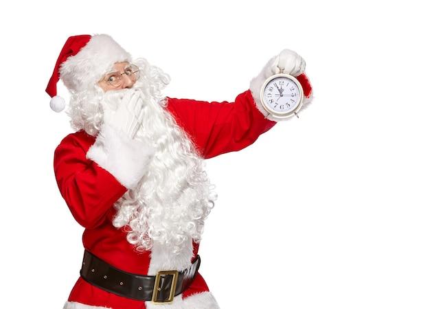 Weihnachtsmann lokalisiert auf weiß
