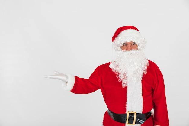 Weihnachtsmann mit leerer hand
