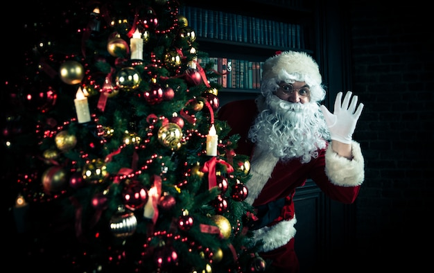 Weihnachtsmann porträts und lebensstil