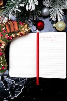 Weihnachtsmenüplan