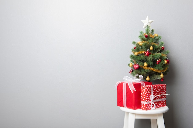 Weihnachtsmotivhintergrund mit kopienraum