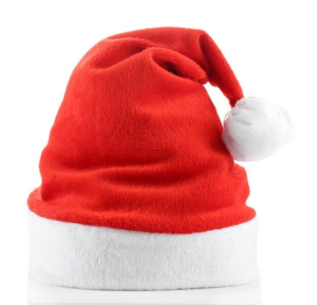 Weihnachtsmütze isoliert auf weiß