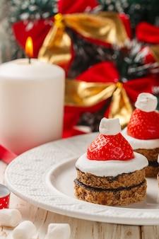 Weihnachtsnachtisch des lebkuchens