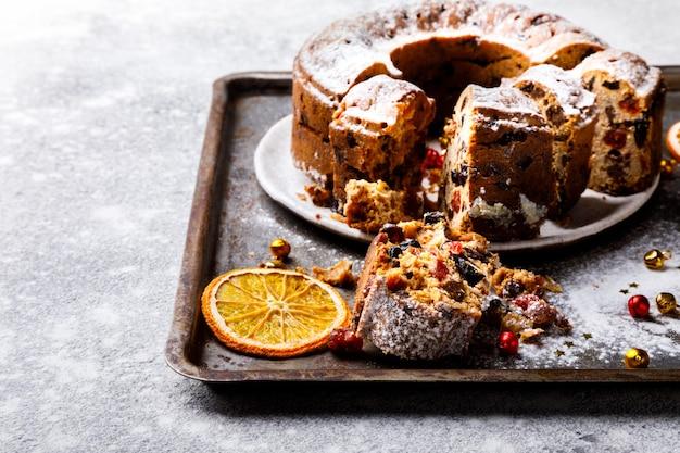 Weihnachtsorangenfruchtkuchen, pudding