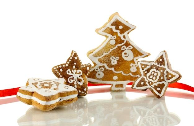 Weihnachtsplätzchen isoliert auf weiß