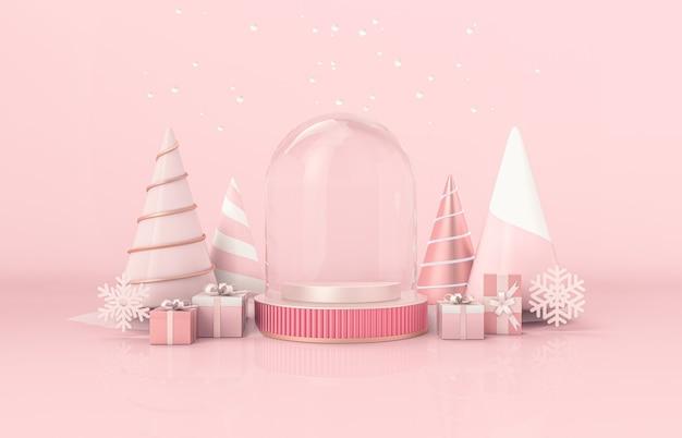 Weihnachtspodesthintergrund für produktanzeige