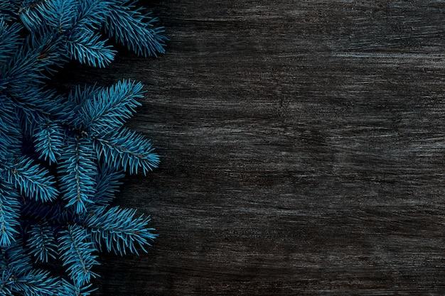 Weihnachtsrahmen auf dem des weihnachtsbaumes