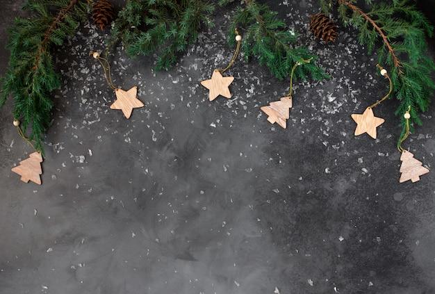 Weihnachtsrahmen mit winterurlaubdekorationen