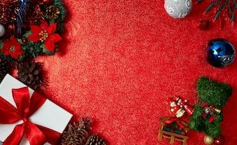 Weihnachtsroter Papierhintergrund