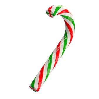 Weihnachtsrotes grünes weiß verdrehte zuckerstange caramel3d