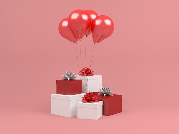 Weihnachtsschablone geschenkboxpastellhintergrundballon