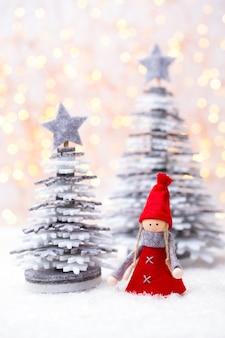 Weihnachtsschlitten mit feiertagsfeierkonzept.