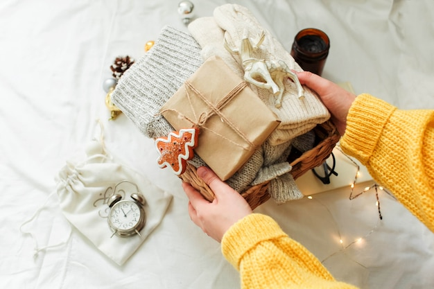 Weihnachtsschmuck und geschenk