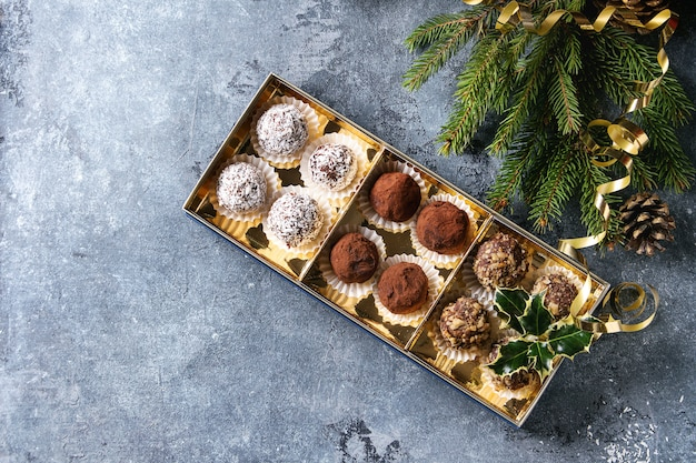 Weihnachtsschokoladentrüffel