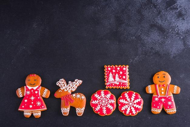 Weihnachtsselbst gemachte lebkuchenplätzchen