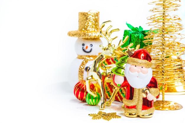 Weihnachtsspielzeugdekoration oder konzept und dekorationen des neuen jahres