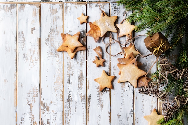 Weihnachtssternformzuckerplätzchen