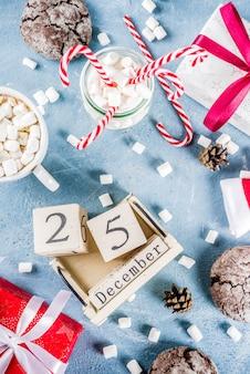 Weihnachtsszene mit traditionellem essen
