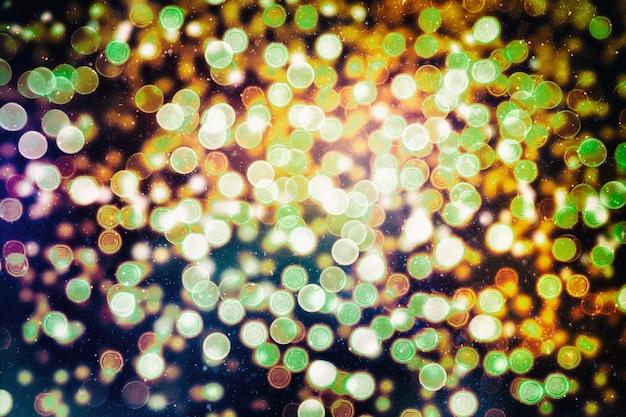 Weihnachtstapetendekorationen concept.holiday festival kulisse: funkeln kreis beleuchtete feiern anzeigen.