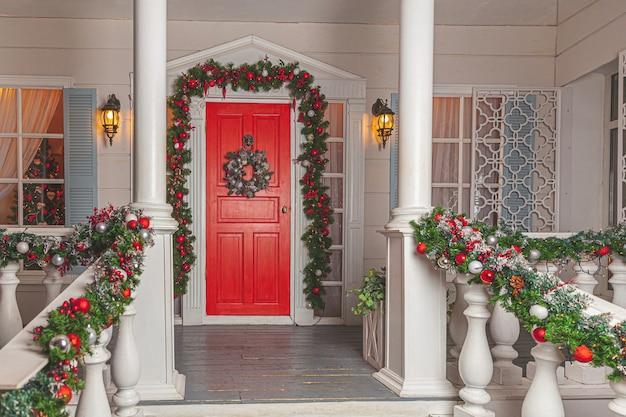 Weihnachtsveranda deko idee
