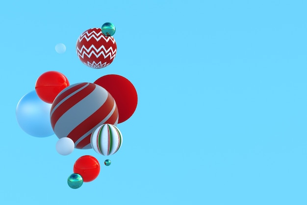 Weihnachtswinter 3d-komposition urlaubsvorlage mit kopienraum für text