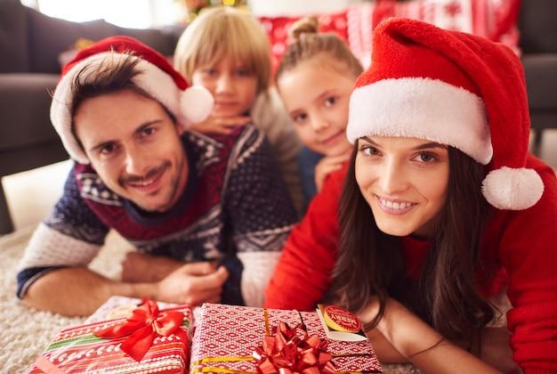 Weihnachtszeit mit der familie verbracht