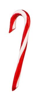 Weihnachtszuckerstange getrennt auf weiß