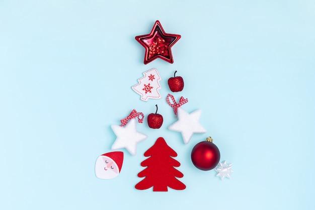 Weihnachtszusammensetzung in form von chrismas baum.