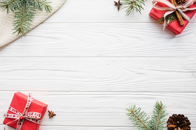 Weihnachtszusammensetzung mit raum in der mitte