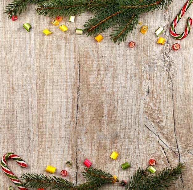 Weihnachtszusammensetzung von tannenzweigen