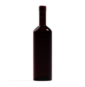 Wein bordo flasche isoliert rotes glas leer design vorlage getränk bar artikel mockup bild