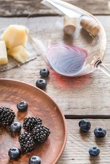 Wein mit beeren