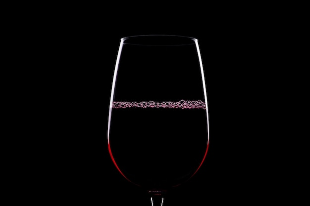 Weinglas silhouette