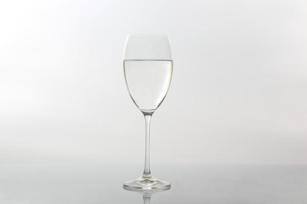 Weinglas wasser