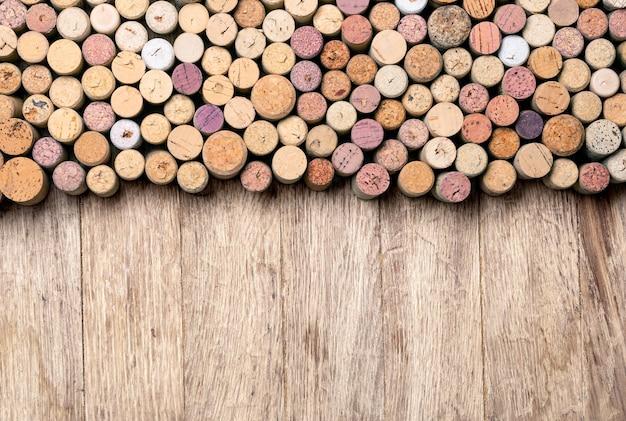 Weinkorken hintergrund. platz kopieren hintergrund für text