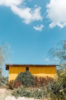 Weinlese-erholungsorthaus in der natur