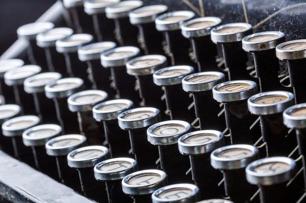 Weinlese-schreibmaschinenschlüssel-nahaufnahme