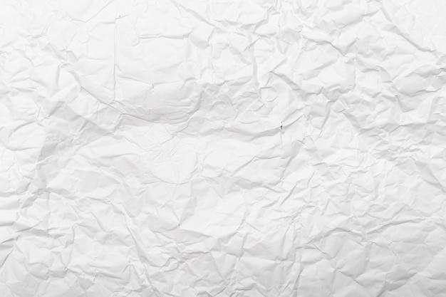 Weiß zerknitterter papierbeschaffenheitshintergrund