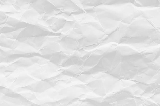 Weiß zerknitterter recyclingpapierbeschaffenheitshintergrund für geschäftskommunikations- und bildungskonzeptdesign.