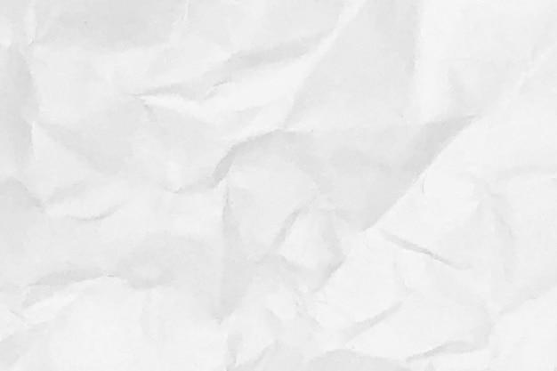 Weiß zerknittertes papier textur hintergrund design raum weißton