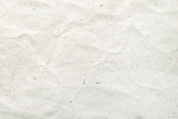 Weiß zerknittertes papiermuster und beschaffenheitshintergrund.