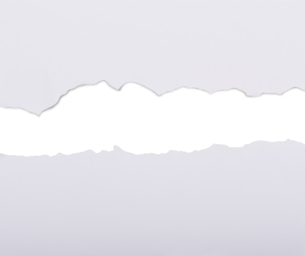 Weißbuch in zwei teile zerrissen