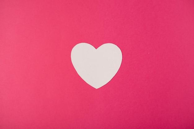 Weißbuchherz. valentinstag konzept. flache lage, draufsicht.