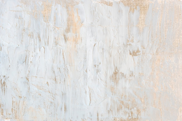 Weiße acrylfarbe mit goldener glitzer-hintergrundillustration