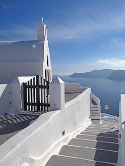 Weiße architektur der griechischen inseln