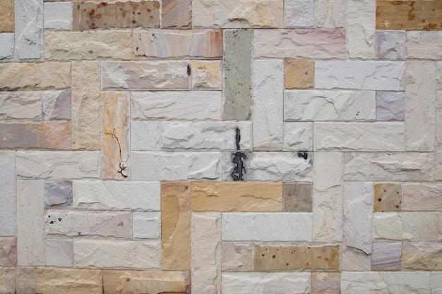 Weiße backsteinmauer, beschaffenheit