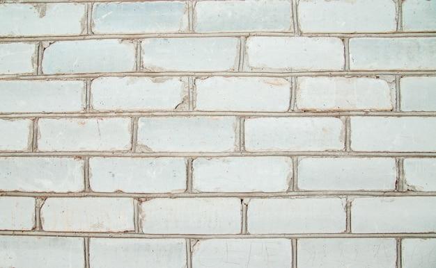 Weiße backsteinmauer. weiße backsteinstruktur. hintergrund der ziegel.