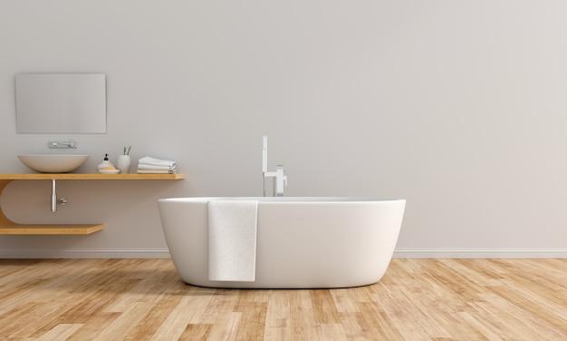 Weiße badezimmerinnenbadewanne