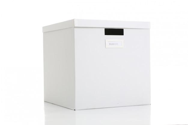 Weiße bastelbox