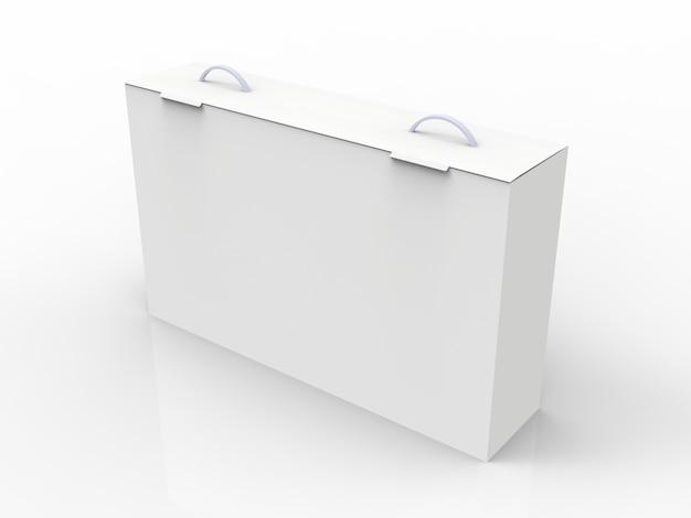 Weiße box für laptop, fernseher, set-top-box und andere geräte